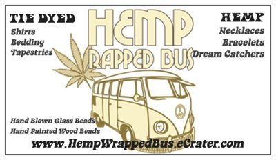 my Hemp Wrapped Bus cards