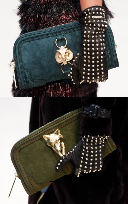burberry f'12: studded gloves + animal hardware !!!