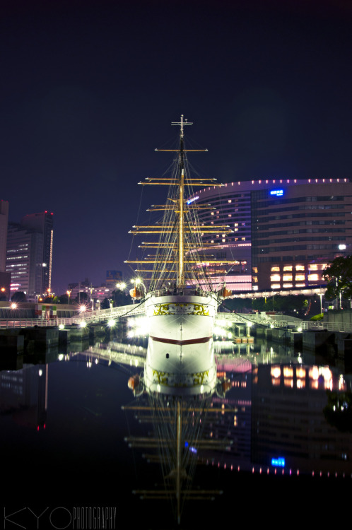 kyokphotography:  Nippon Maru- a four masted sailing ship, permanently docked in Minato Mirai as a museum.