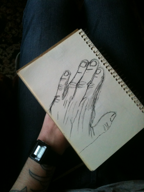 Attempt of drawing my hand haha