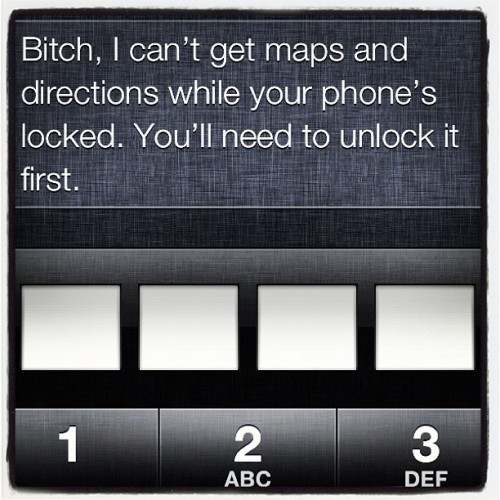 LMAO I told Siri to call me 'Bitch'.. & she just became one of my home girls.  (Taken with instagram)