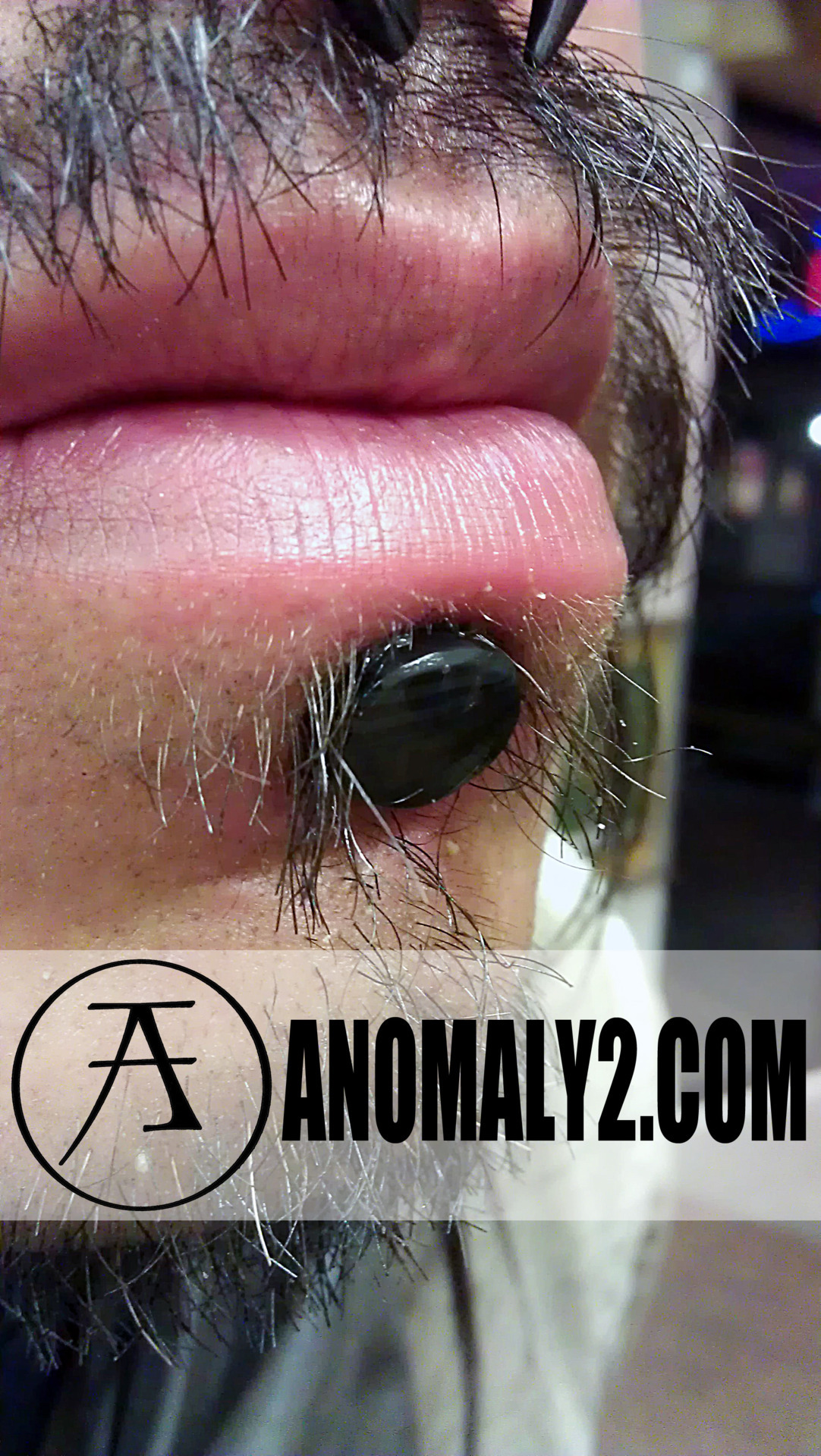 ANOMALY's own Brett Perkins made this Obsidian Labret piece by hand for a customer. If you look closely you may see some banding in the stone!