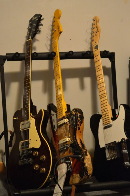 the guitars…