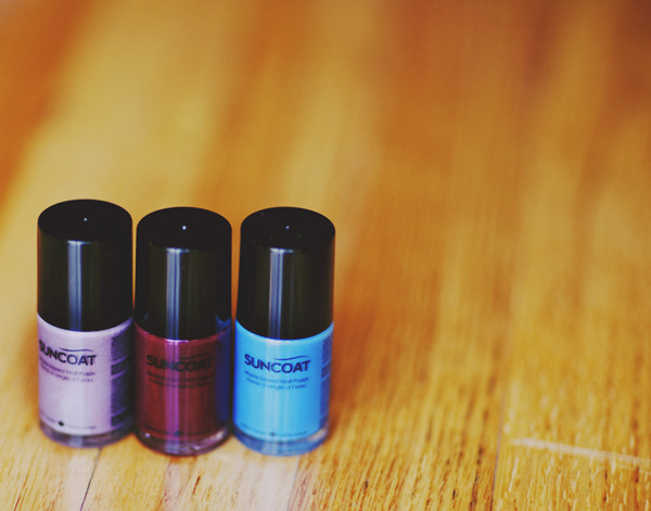 The dopest nail polish on the planet, from Suncoat products.  * Water based, non smelling, long lasting, quick drying, doesnt make my nails yellow or brittle, and is missing all the nasty chemicals in regular nail polish. And its $9 a bottle which is pretty normal, the only bummer is it takes 2 weeks to arrive from Canada.