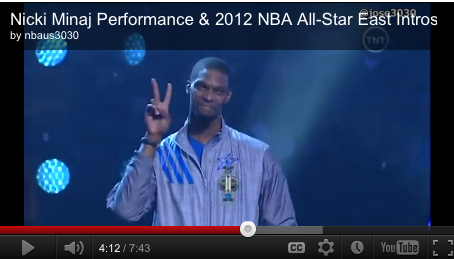 Chris Bosh at All-Star East Intros