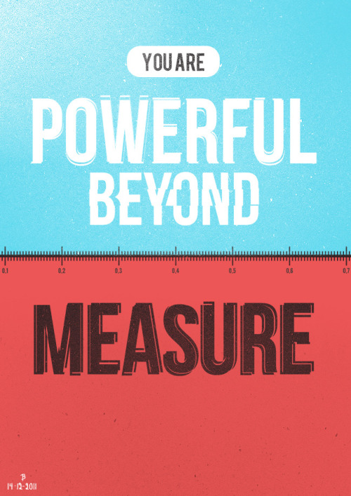 serenityinchaos:  Beyond Measure