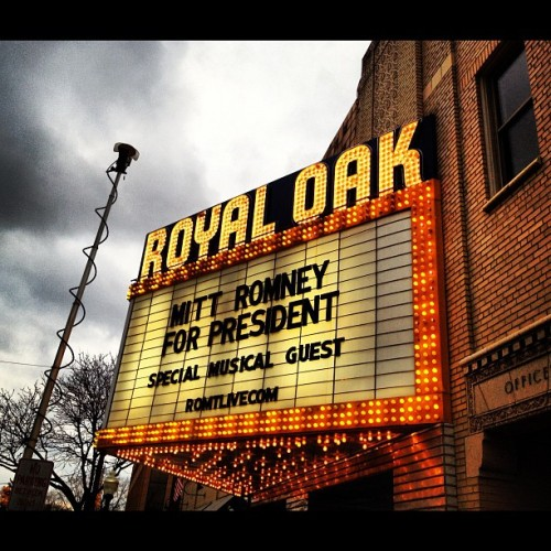 Will Kid Rock show up for Romney tonight? That's the rumor. (Royal Oak MI) (Taken with instagram)