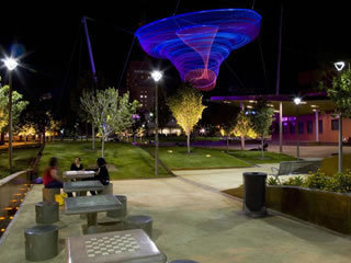 Phoenix embraces sustainable living with the help from the local university and community.  I can wait until we all can enjoy landscapes like the Civic Space Park.  Official Site of the City of Phoenix - Civic Space Park