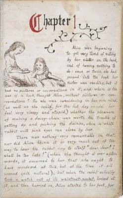 explore-blog:  These handwritten pages from Alice's Adventures Under Ground, illustrated by Lewis Carroll himself, are the best Alice gem since Salvador Dalí's 1969 illustrations for Alice in Wonderland.