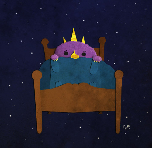 eatsleepdraw:  Monster is afraid of the dark.  You'll find more illustrations here! :)
