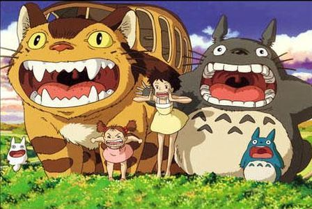 livelaughmorgan:  totoro    Anime… where all the chracters have the same face and the cat is a fucking bus. And people call me a dork for liking Batman and Spider-Man comics…