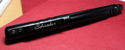 Schrade Tactical Fountain Pen/Rollerball Pen Ok this is immediately on our want list.  It sounds like something very appealing as we tend to opt for the thicker barreled pens.  Anodized aluminum?  Yay!  We like!  We really don't know why but we like!   And of course we really like the great review from No Pen Intended.  More after the jump! (source: no pen intended)