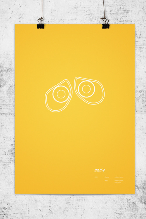 Minimalist Pixar movie poster by Melbourne-based designer Wonchan Lee.