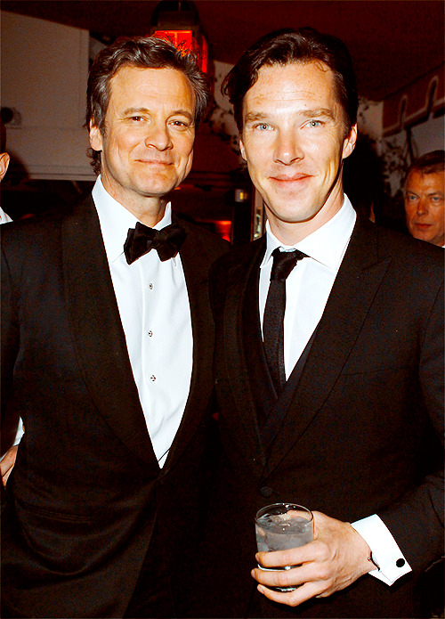 Colin Firth and Benedict Cumberbatch, Vanity Fair Oscars After Party (February 26)