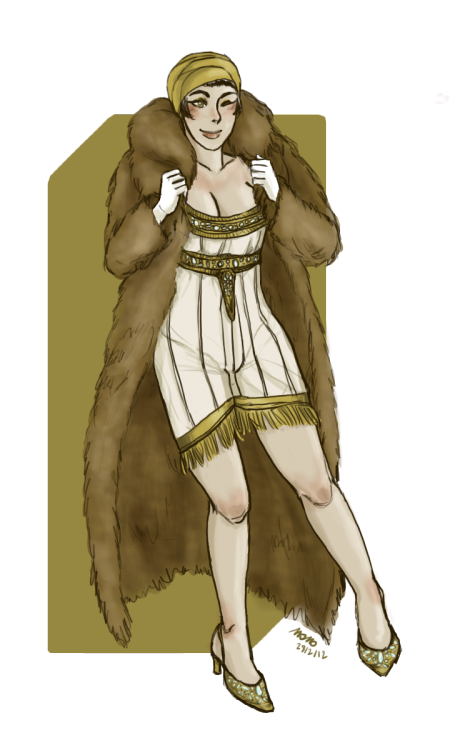 1920's girl in her fanciest undies. I have just finished the colours today but actually I started the draw when Himi was doing her app for Juice Joint. Your sexy ladies inspired me, Himi