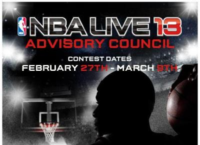 NBA Live 13: Enter to Win a Spot on the NBA Live 13 Advisory Council