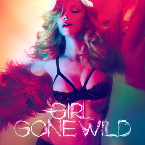 Artwork for Madonna's single, 'Girl Gone Wild'. Airbrushed. Mad effects. But who isn't?! She looks hot!