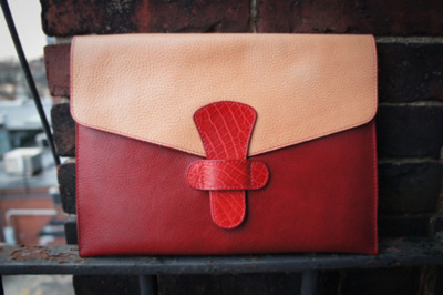 "Frank Clegg Leatherworks iPad Give-Away This leather ipad case is one of a kind. It is made with Tumbled Vegetable Tan Leather and Real American Crocodile Skin. It was made by hand from Frank himself at Frank Clegg Leather-works and i was lucky enough to put together this give-away. In my personal opinion, i think this is really a perfect match of color tones. The Crocodile section adds a classy feel to the case without over-doing it. Use this to accessorize with all your current mens' or women's wear.Please ""Like"" Frank Clegg Leatherworks Facebook page to be entered into the drawing. We will pick at random, one lucky winner. Good luck all!Also check out some of Frank Clegg's other fine leather goods here.  More photos here."