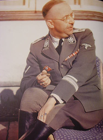 "fyeahheinrichhimmler:  ""Say what now, Reinhart?"" I didn't think Heinrich smoked :s  Himmler did smoke. You can see here his tobacco box, a present from Gõring. However, I've read he was very fussy with everything related to the hands. It annoyed him to see fingers stained with nicotine. Even in his subordinates. (Anyone, feel free to correct me if i'm wrong)"