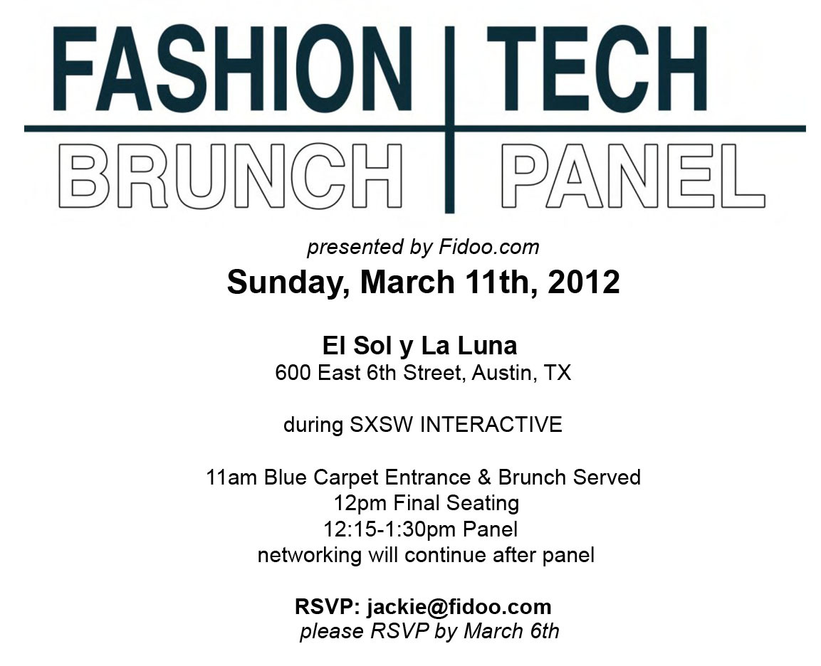 @mashable @marissamayer @fashinvest Fashion and Tech collide March 11th with the release of Fashion&Tech - the new mini magazine by Fidoo.com!