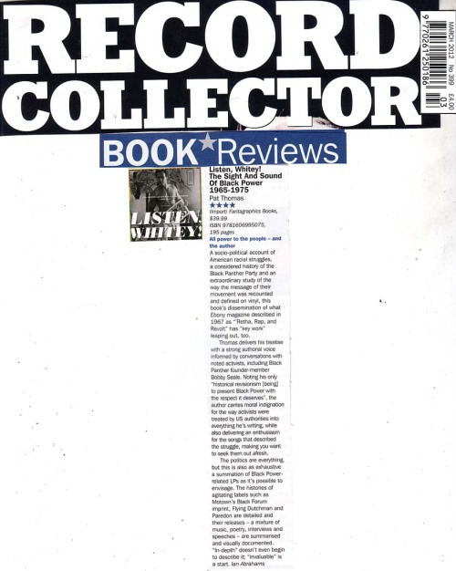Review of the book by Ian Abrahams in UK music magazine Record Collector.