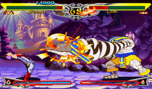 Darkstalkers 3 Porting to PSN in the Near-ish Future While this series is not as recognizable in Capcom's pantheon of fighting games, you've likely seen or tangled with several characters like Morrigan and Felicia in one or a dozen of the publisher's mash-up titles.  Catch up on the genre's history once Darkstalkers 3 makes PS One Classic status on PSN. I'm shamefully ignorant when it comes to these games having no hand-on's with any of them, but I'd be interested to see how this 1997 addition informs later 2D fighting entries in Capcom's line-up.  For you Darkstalkers fans hiding in the limelight, know that a recent filing in the franchise's name could spell out a modern day resurgence.  Guess it's a good time to revisit (or, in my case, discover altogether) this visually distinctive piece of the genre — grimacing through my piss-poor level of comprehension for fighting games, that is. You may call button-mashing cheap, I call it my only defense.