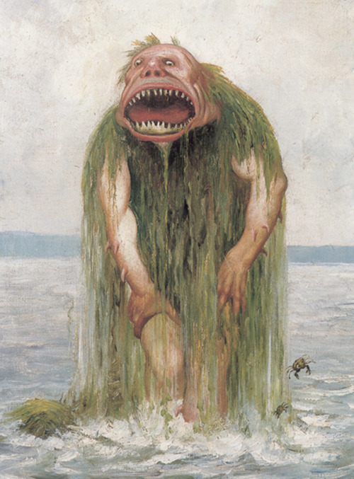 cavetocanvas:  Theodore Kittelsen, The Water Troll Who Only Eats Young Girls