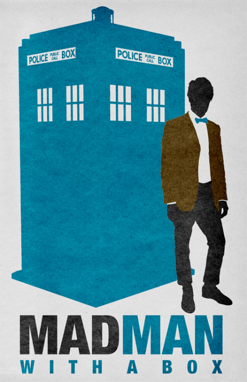 MADMAN With A Box (Doctor Who/Mad Men mash-up) For sale on Society6.com: http://society6.com/TravisEnglish/MAD-MAN-With-A-Box_Print