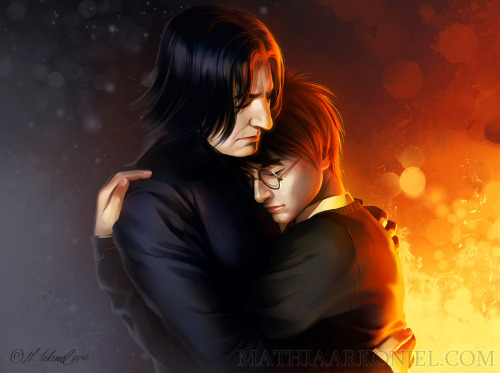 dastardlylemondrops:  hp: Harry Potter and Severus Snape by *arkoniel