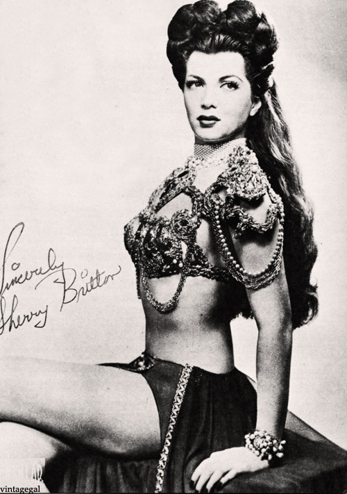 Burlesque dancer, Sherry Britton c. 1940's