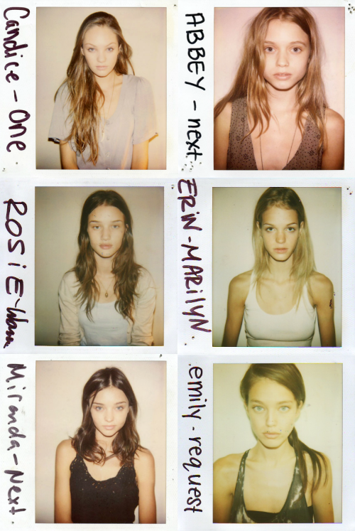 ohyeahfashionjunkie:  Model Polaroids ♥