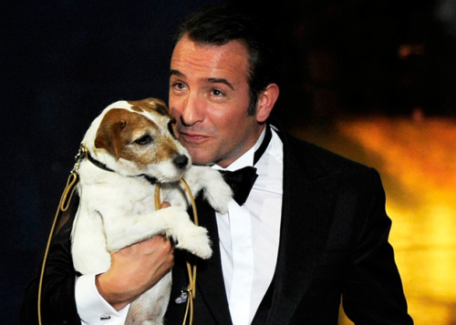 Jean Dujardin and Uggie are the ultimate dapper gentlemen!
