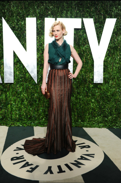 January Jones in Wes Gordon. Lots of mixed feelings about this just because I have yet to fully recover from January wearing Versace at the 2011 Golden Globes, sorry I'm not sorry.