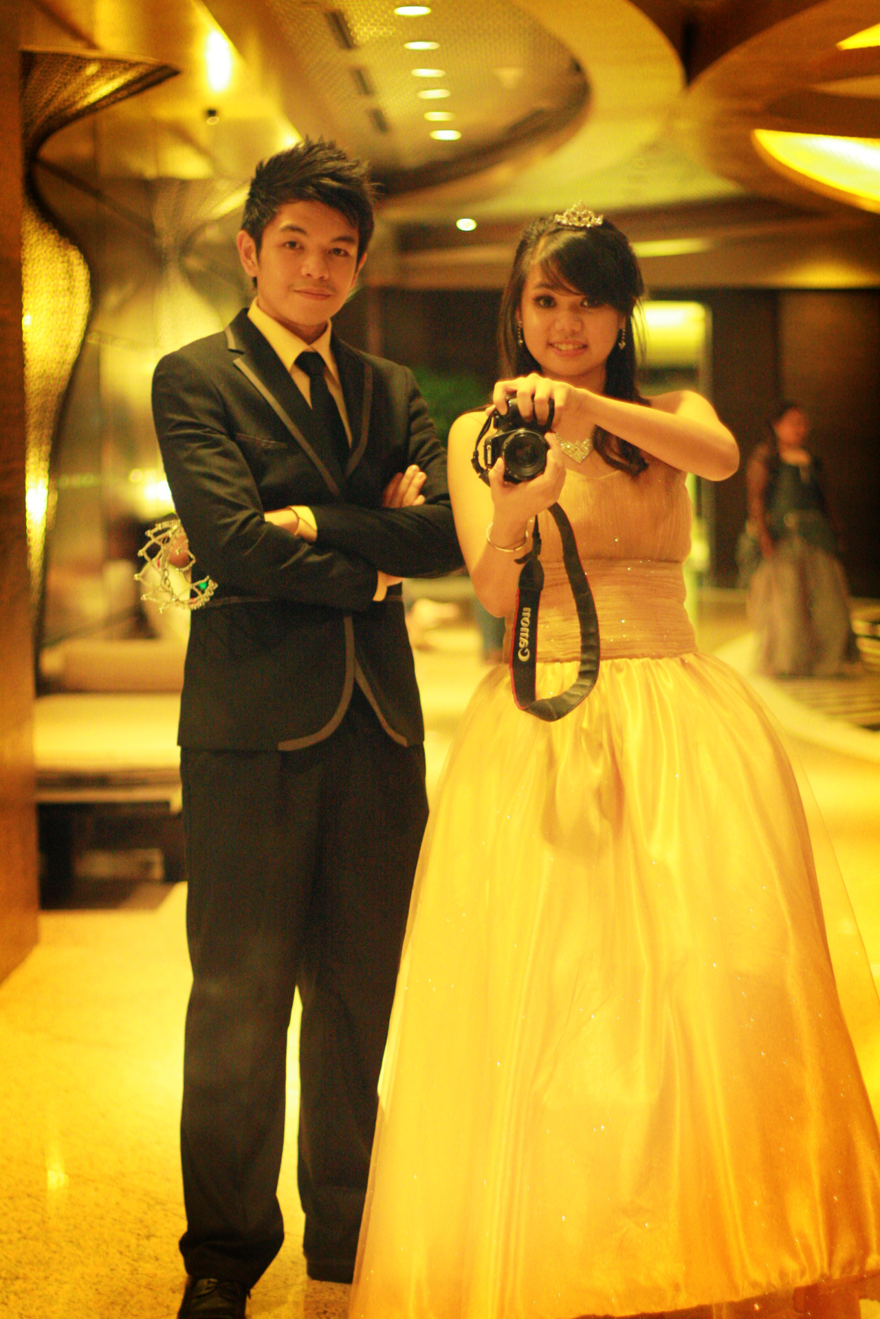 Me and my Prom Date Clarissa Quadra. :)
