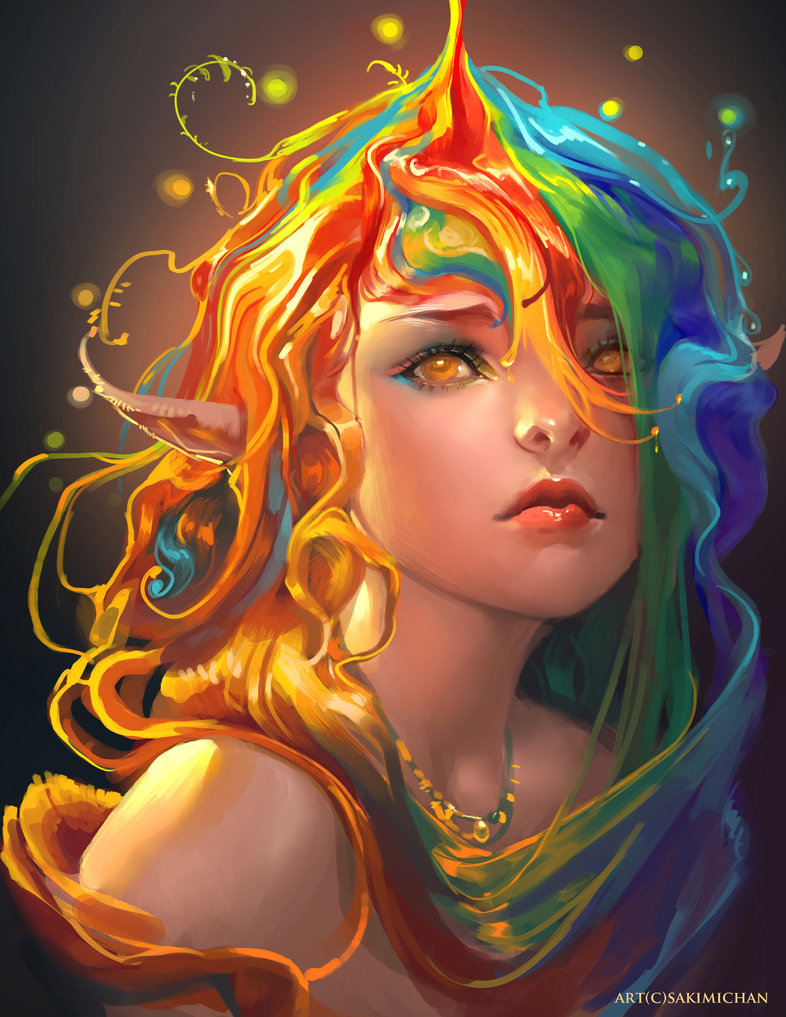 Rainbow by =sakimichan on deviantART.