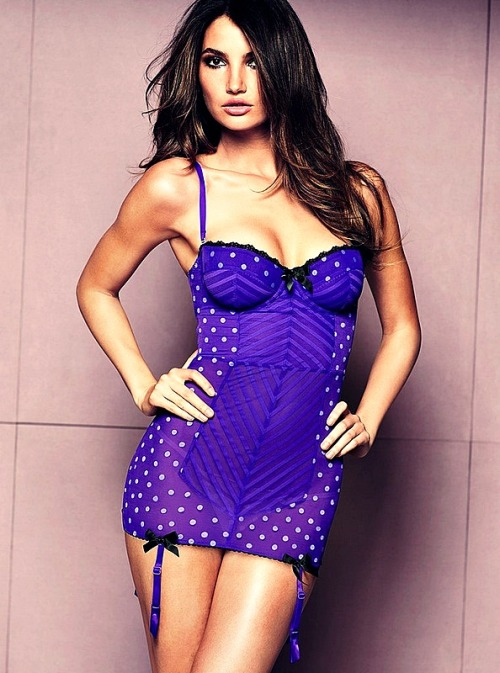 Lily Aldridge . 2 Victoria's Secret Lingerie 2012 collection