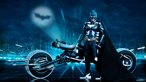 If Batman Met TRON… (Image by Agen)