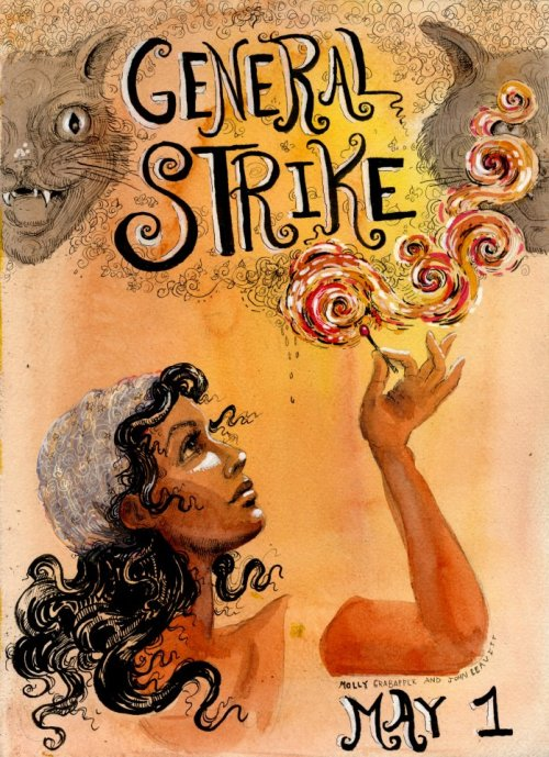molly crabapple made a general strike poster for us