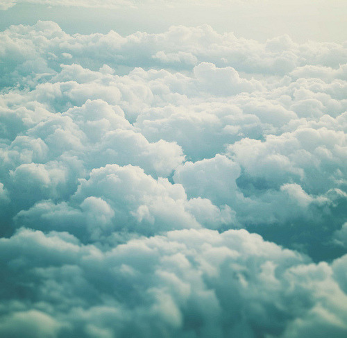 above and beyond the clouds..