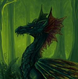 Swamp Wyrm by ~DragonAtaxia —- x —- [Click here for a Random Creature at CfD]