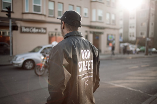 aviloud:  Rich  Sausage Skateboards OUR STREETS coaches jacket by Avi Loud