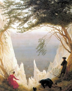 Chalk Cliffs on Rugen   Caspar David Friedrich 1818 Wikipedia Commons
