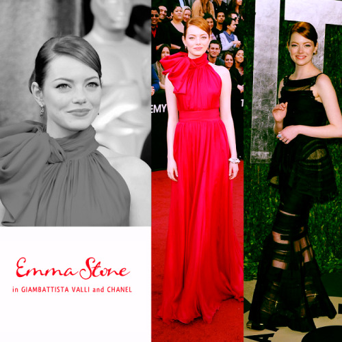 top 12 oscar dresses 01 | emma stone in giambattista valli & chanel