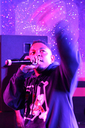 unkommonkolor:  Kendrick Lamar wearing the UNKO D-Town Fligers Hoodie during his performance in Austin, TX.