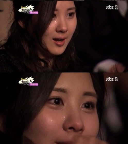 "Seohyun, together with Sooyoung, was moved to tears in the episode of jTBC's ""Girls' Generation and the Dangerous Boys,"" that aired on February 26, as they supported the boys' performance in a dance competition. #Maknews"