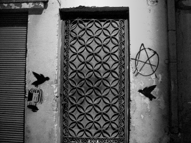The anarchy door (B/W) by zip3gr on Flickr.
