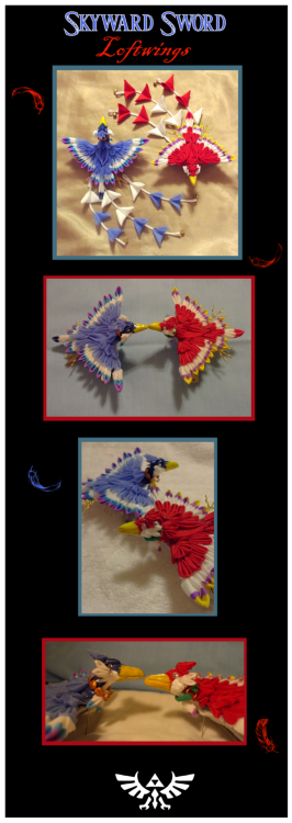 deviantbirds:  Skyward Sword loftwing kanzashi by ~EruwaedhielElleth Daily Deviation February 28 2012