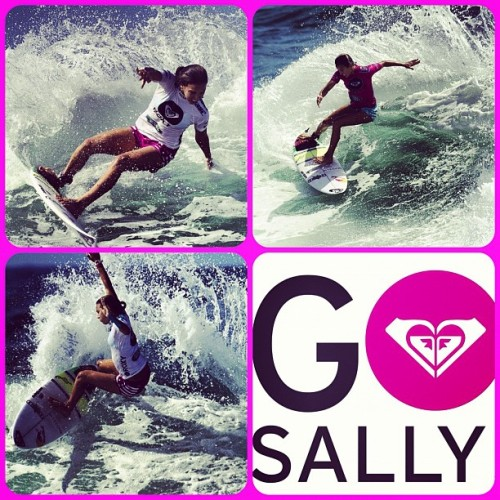 @sally_fitz at the #roxypro #roxy #gosally #goldcoast #snapper #surf #surfing #asp  (Taken with instagram)