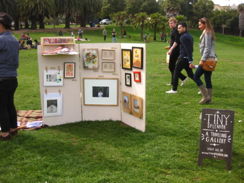 Big ups to our friends at Tiny Splendor for their first show at Dolores Park last Sunday