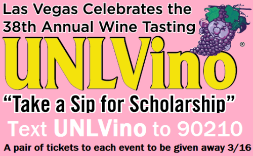 Read about the UNLVino text program and how you can win tickets!  http://bit.ly/UNLVinoText